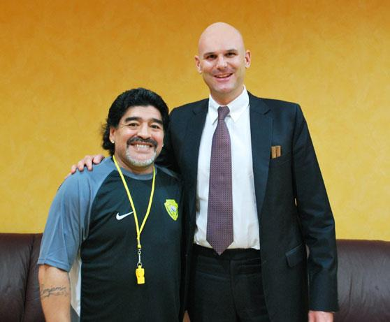 meeting the legend – Diego Maradona