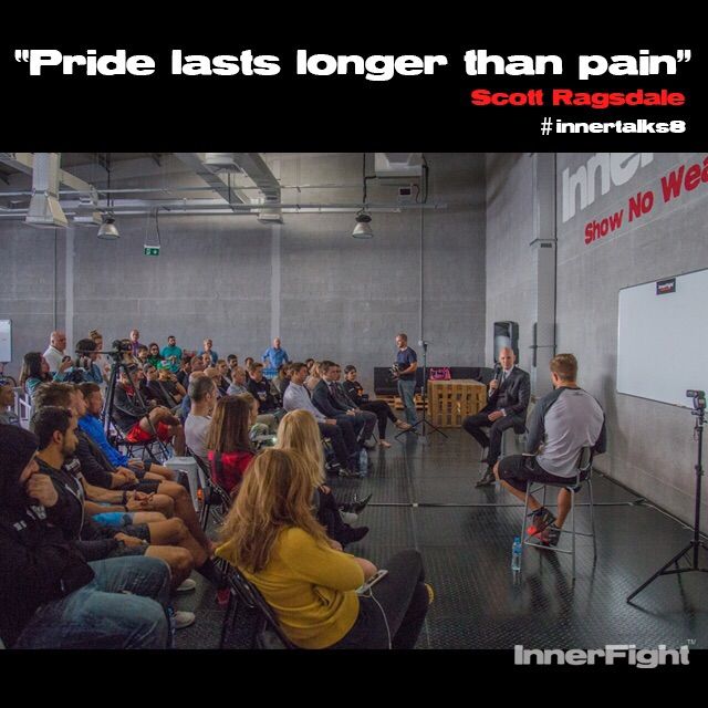 "Marcus Smith's InnerFight – InnerTalk video ""don't let the losers bring you down."""