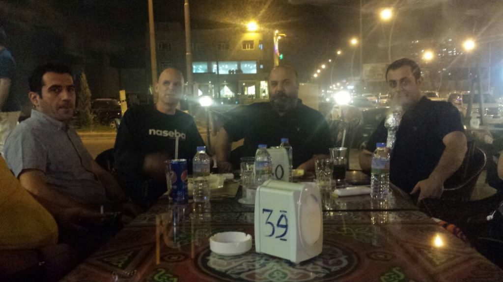 going for dinner in Erbil, Iraq…